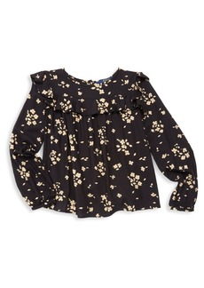 Ralph Lauren Girl's Floral Ruffle Top