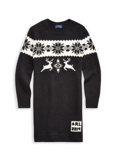 Ralph Lauren Girl's Holiday Sweater Dress