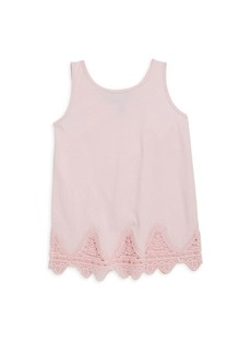 Ralph Lauren Girl's Lace-Trimmed Tank Top
