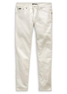 Ralph Lauren Girl's Metallic Skinny Jeans