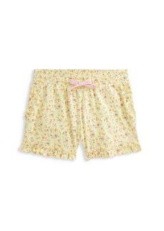 Ralph Lauren Girl's Micro Floral Ruffle-Trim Shorts