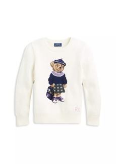Ralph Lauren Girl's Polo Bear Wool Sweater