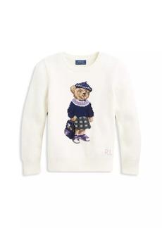 Ralph Lauren Girl's Polo Bear Wool Sweater