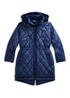 Ralph Lauren Girl's Quilted Longline Coat