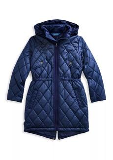 Ralph Lauren Girl's Quilted Longline Coat