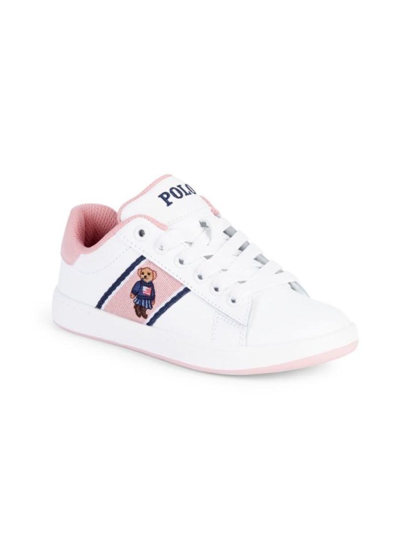 Ralph Lauren Girl's Quilton Bear Sneakers