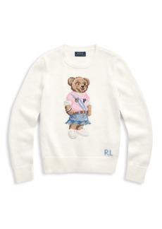 Ralph Lauren Girl's Spring Bear Sweater