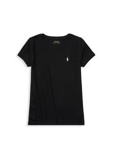 Ralph Lauren Girl's Stretch Cotton T-Shirt