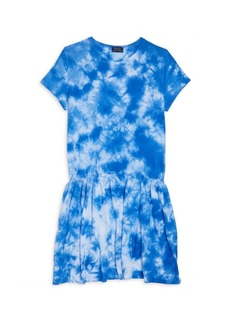 Ralph Lauren Girl's Tie-Dye Dropped Waist Dress