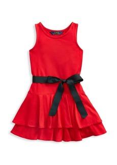 Ralph Lauren Girl's Tiered Sleeveless Dress