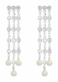 Ralph Lauren Glass Pearl Chandelier Drop Earrings