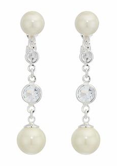 Ralph Lauren Glass Pearl Drop Earrings