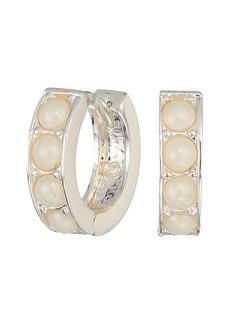 Ralph Lauren Glass Pearl Huggie Earrings