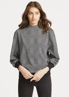 Ralph Lauren Glen Plaid Mockneck Top
