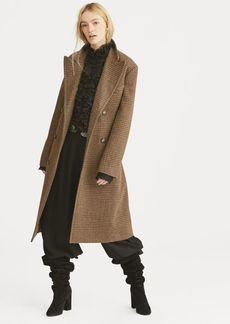 Ralph Lauren Glen Plaid Wool Trench
