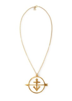Ralph Lauren Gold-Plated Anchor Necklace