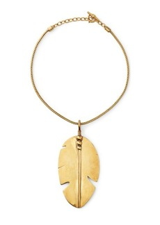 Ralph Lauren Gold-Plated Feather Necklace