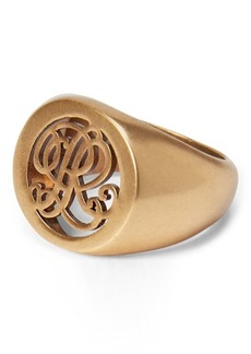 Ralph Lauren Gold-Plated Signet Ring
