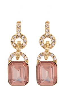 Ralph Lauren Gold-Tone Crystal Pave & Stone Double Drop Earrings