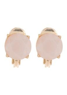 Ralph Lauren Gold-Tone Rose Quartz Clip-On Earrings