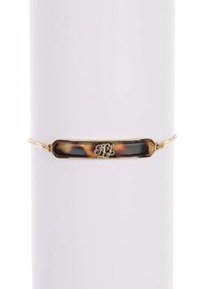 Ralph Lauren Gold-Tone Tortoise Logo Pendant Slider Bracelet