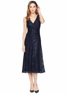 Ralph Lauren Grace Floral Scallop Lace Castina Sleeveless Day Dress
