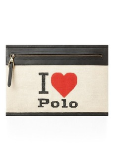Ralph Lauren Graphic Canvas Small Pouch