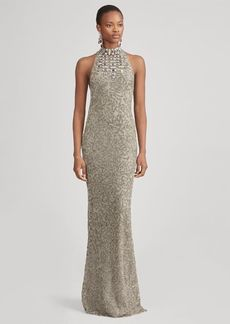 Ralph Lauren Grayden Beaded Evening Dress