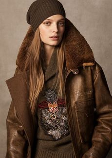 Ralph Lauren Grayden Leather Coat