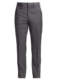 Ralph Lauren Gregory Flat-Front Wool Pants