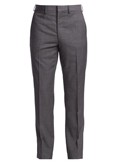 Ralph Lauren Gregory Flat-Front Wool Pants
