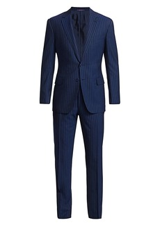 Ralph Lauren Gregory Two-Button Pinstripe Wool Suit