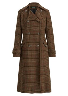 Ralph Lauren Gun Check Wool-Blend Coat
