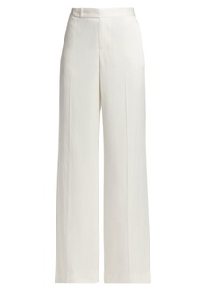 Ralph Lauren Hailey Wide-Leg Crepe Satin Pants