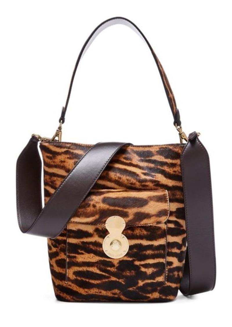 Ralph Lauren Haircalf Mini RL Bucket Bag