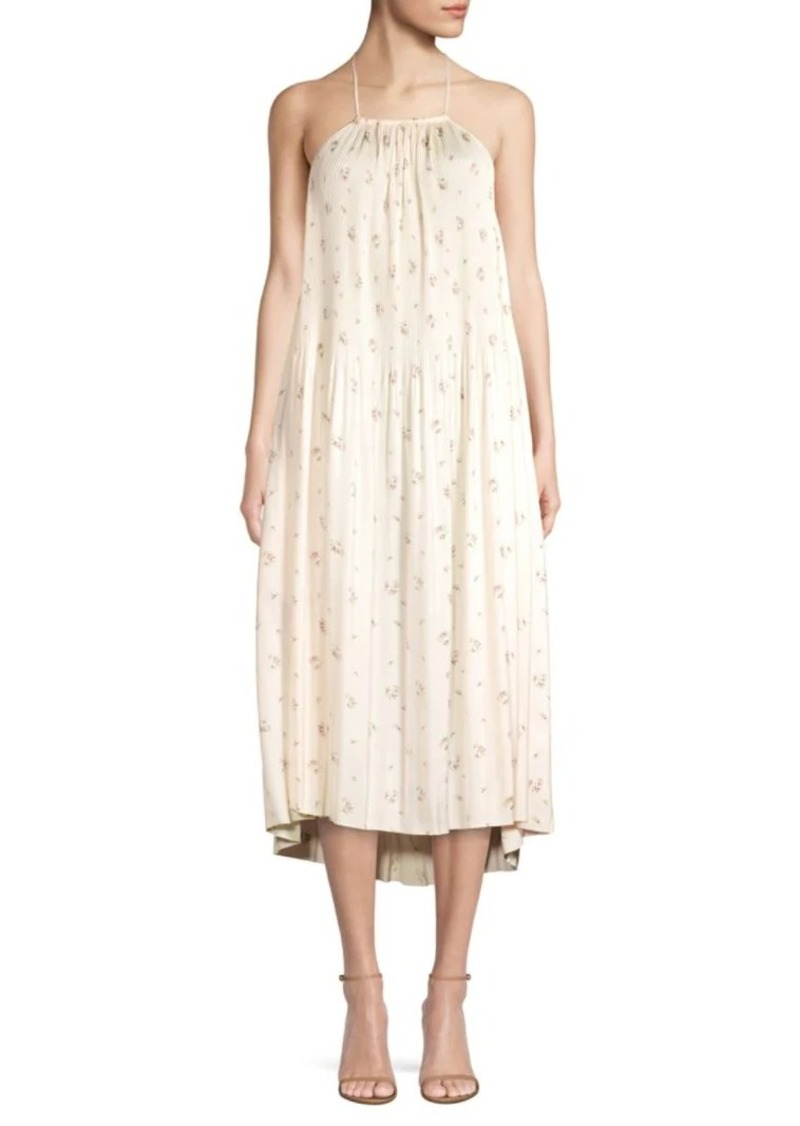 Ralph Lauren Halterneck Floral Tent Dress
