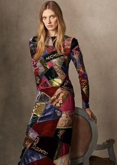 Ralph Lauren Hamlin Patchwork Dress