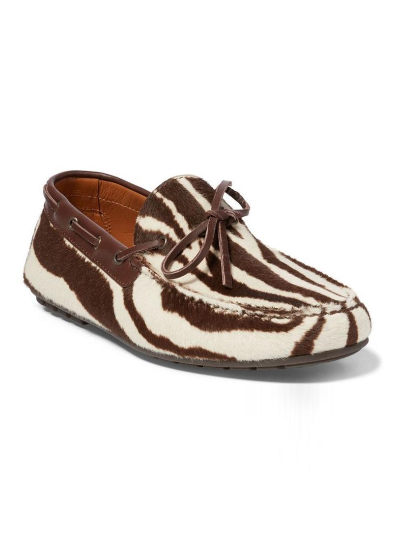 Ralph Lauren Harold Zebra-Print Loafer