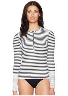 Ralph Lauren Harrison Stripes Long Sleeve Rashguard Top