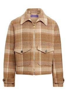 Ralph Lauren Harvick Newsboy Plaid Jacket