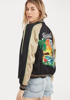 Ralph Lauren Hawaii Satin Bomber Jacket