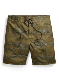 Ralph Lauren Hawaiian Cotton-Blend Short