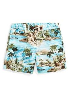 Ralph Lauren Hawaiian Cotton-Blend Short