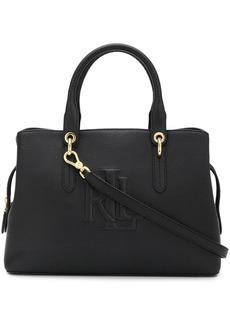 Ralph Lauren Hayward logo embossed satchel
