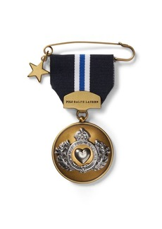 Ralph Lauren Heart Crest-Embossed-Medal Pin