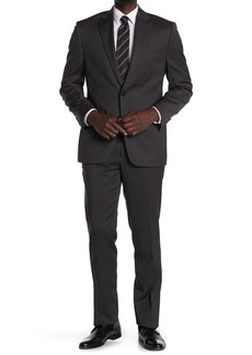 Ralph Lauren Heathered Charcoal Two Button Notch Lapel Suit