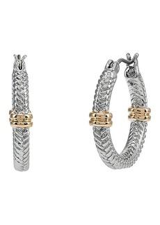 Ralph Lauren Herringbone Hoop Earrings