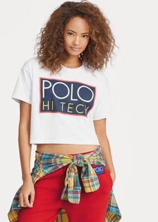Ralph Lauren Hi Tech Cropped Cotton T-Shirt