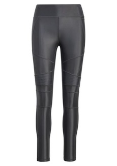 Ralph Lauren High-Gloss Moto Legging
