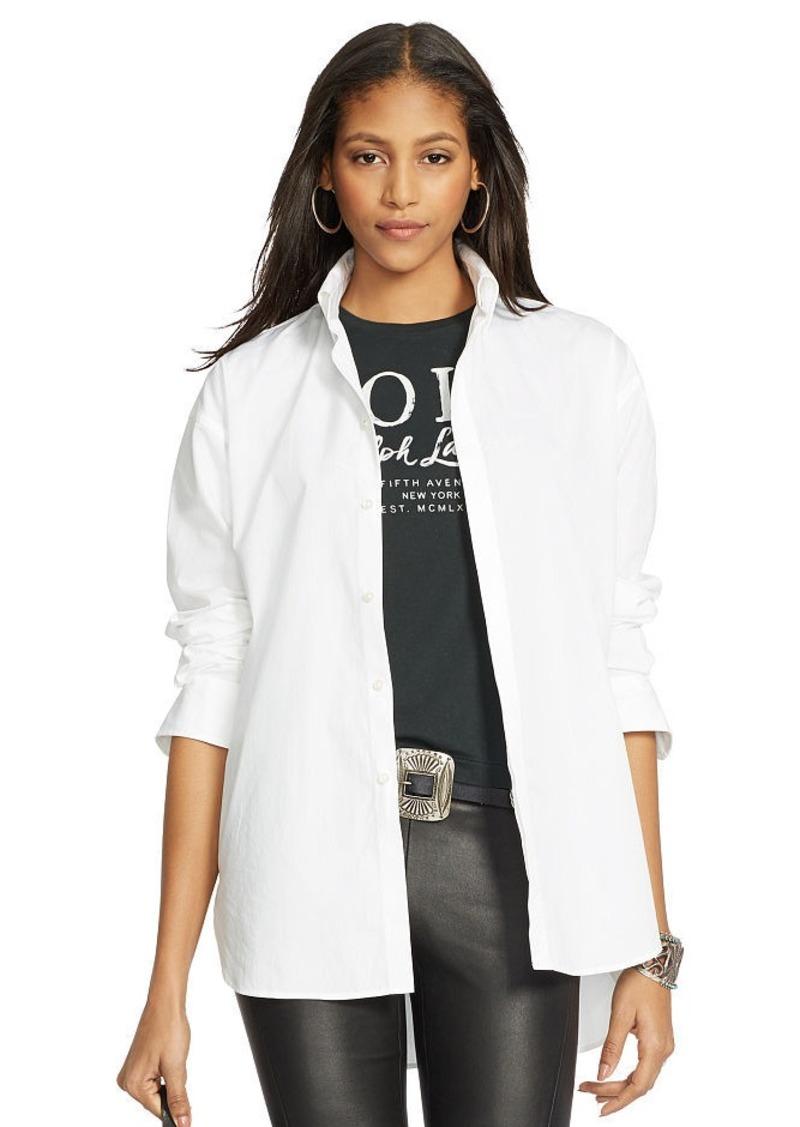 Ralph Lauren High-Low Hem Poplin Shirt
